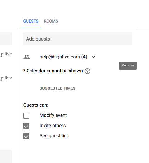 Schedule A Highfive Meeting: Google Calendar – Highfive Success Center