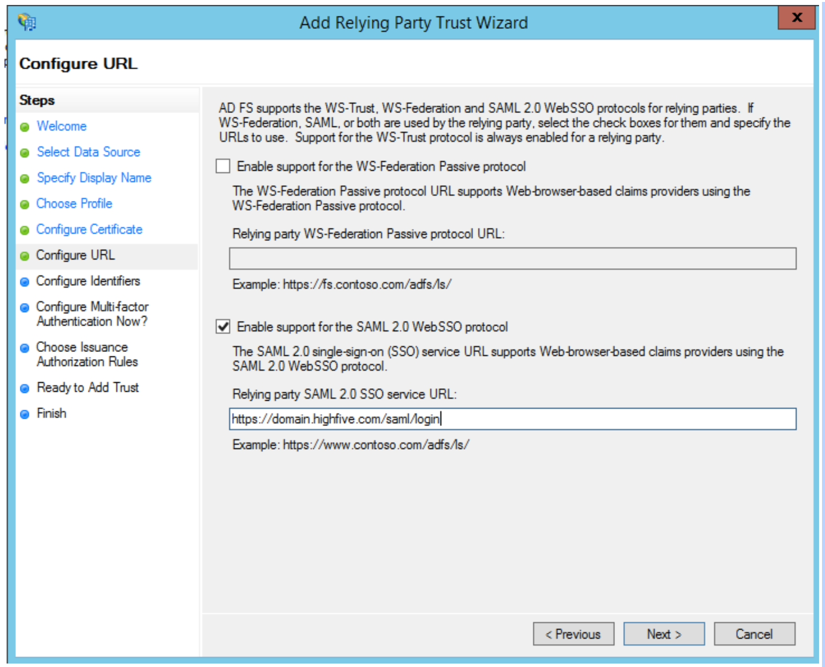 How To Configure Active Directory Federation Services SSO for