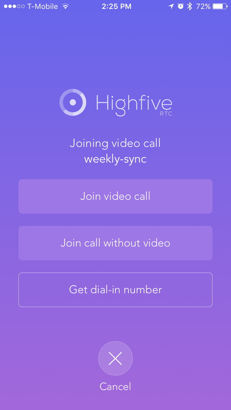 Create Or Join A Video Call On An iOS Device – Highfive